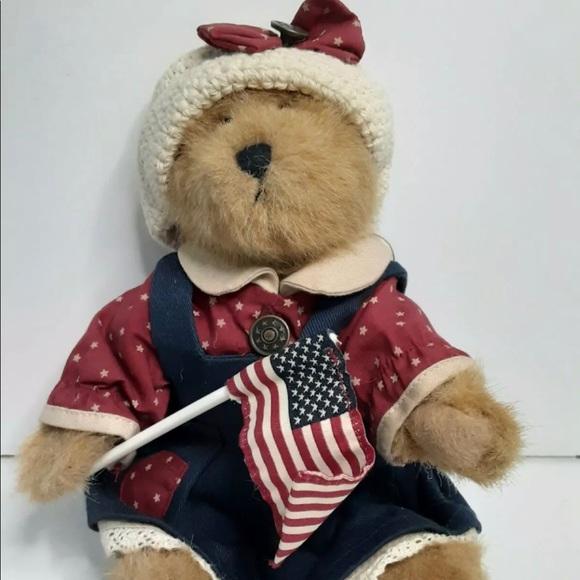 "Boyds Bears BAILEY 8"" Americana Patriotic Bear"